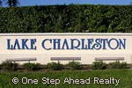 Lake Charleston community sign