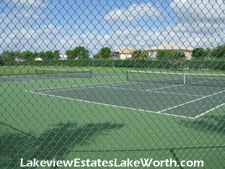 Lakeview Estates offers residents the use of its two tennis courts
